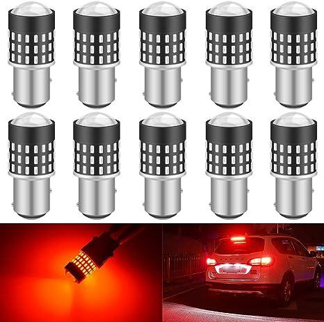 Lot de 2 ampoules LED de feux de stop arri/ère Katur 1157 BAY15D 5630 33-SMD Tr/ès lumineuses 12 V Lumi/ère orange de 900 lumens 3,6 W 8 000 /°K