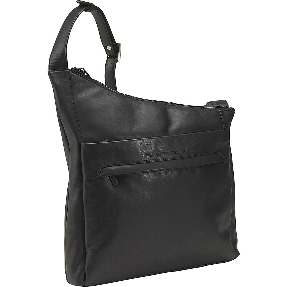 Derek Alexander Leather NorthSouth Angled Hobo - Black