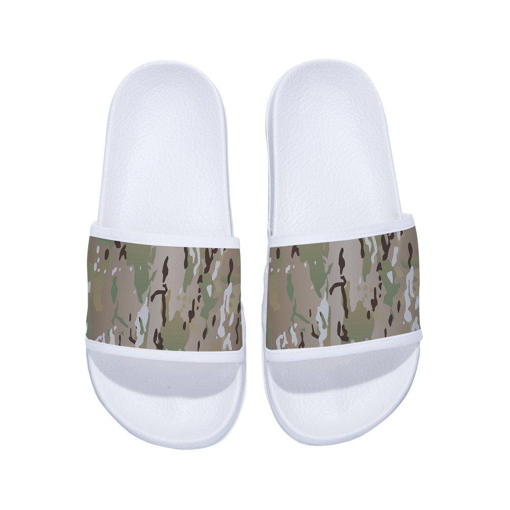 Boys Girls Slide Sandals Comfortable Soft Bathroom Sandal Shower Slippers Camouflage
