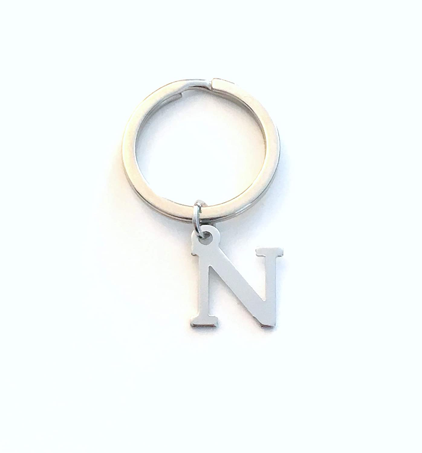 N Initial Keychain, Letter Key Chain, A-Z available in my shop