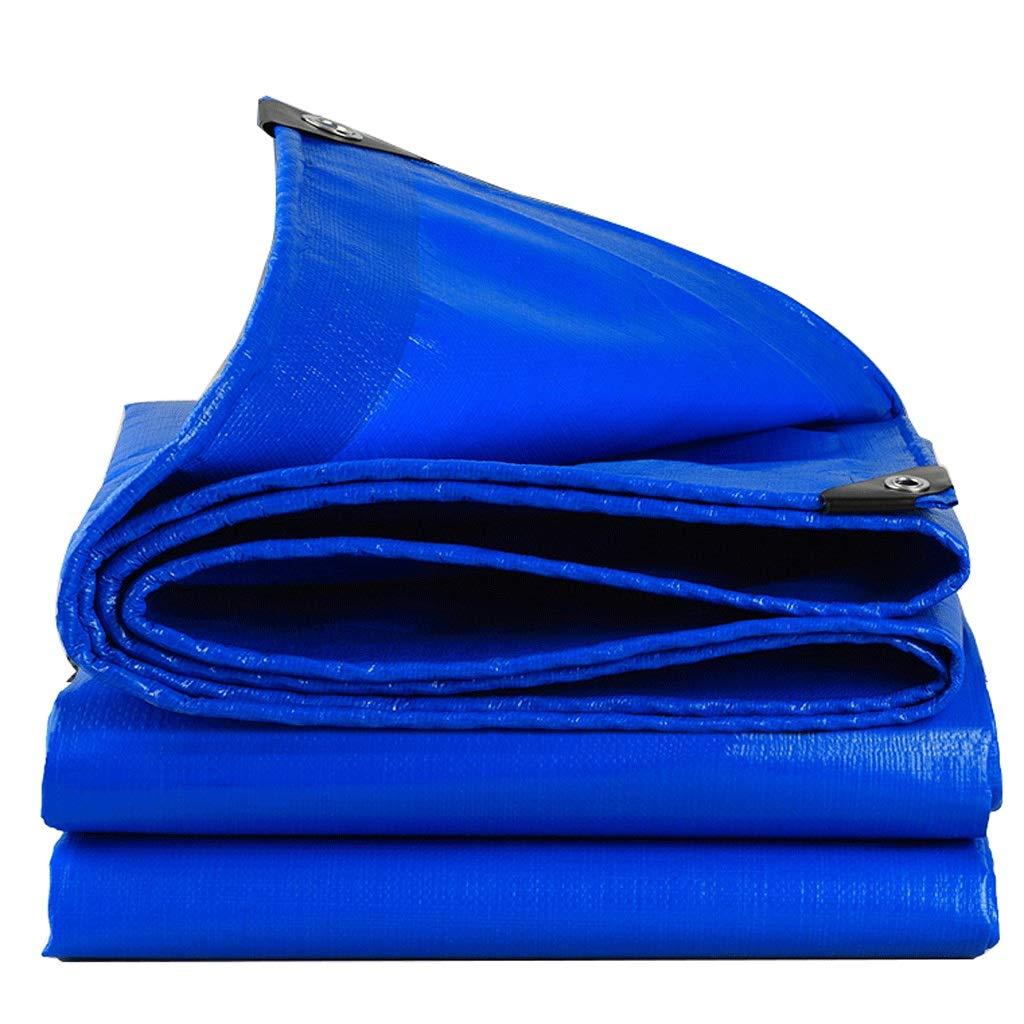 Duanguoyan BÂche- BÂche imperméable extérieure de polyéthylène de Tissu de Hangar de Prougeection Solaire de bÂche antipluie (Couleur   bleu, Taille   5X8m) bleu 5X8m