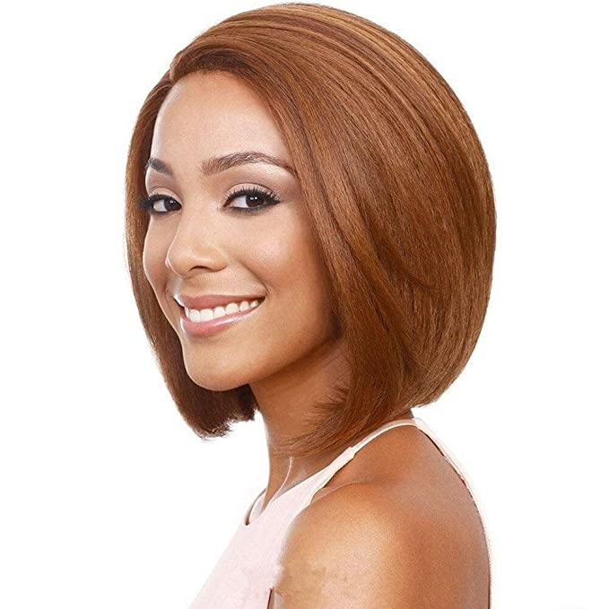 Amazon.com: ZBB JF2063-30cm Bob Wigs Short Straight Wigs for Women Party Cosplay Wigs, Brown: Health & Personal Care