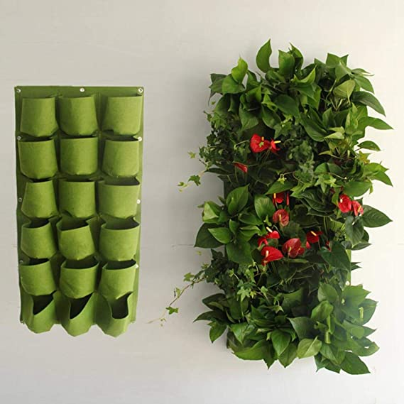 Wall-Mounted Planting Grow Bed Hangers Growing Container Pots for Garden Vegetable Planters Potato Tomato Veggies Flower UMIWE Flower Potato Plant Growing Bags 9 Pockets, Black