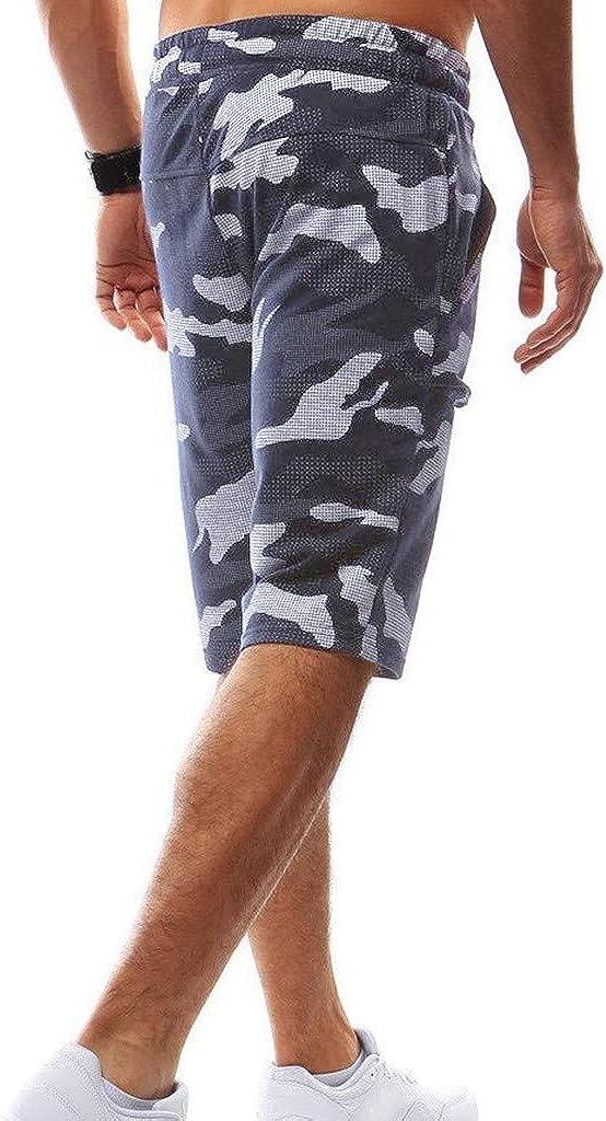 Mens Big and Tall Work Shorts Pocket Pants Transser Expandable-Waist Plain-Front Denim Fit Loose Pant