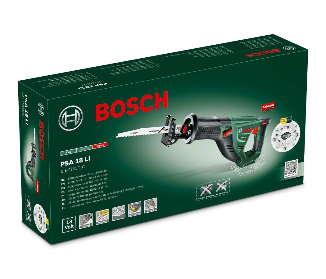 technologie Syneon 06033B2301 Bosch Scie sabre Expert sans fil PSA 18 LI outil seul sans batterie