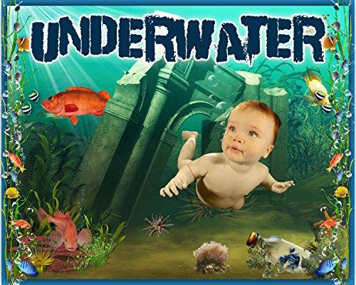C4 Underwater Digital Photography Backgrounds Backdrops Children Summer Beach