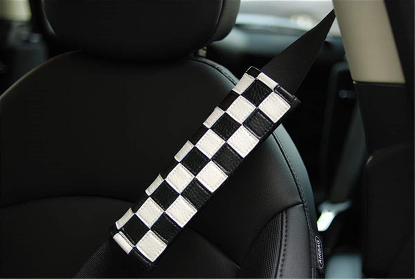 Checkered 2 st/ücke Auto Sicherheitsgurt Schultergurt Pad Gurt Abdeckung Kissen f/ür Mini Cooper F54 F55 F56 F57 F60 R55 R56 R58 R59 R60 Hardtop Clubman Flie/ßheck Verdeckte Roadster Countryman