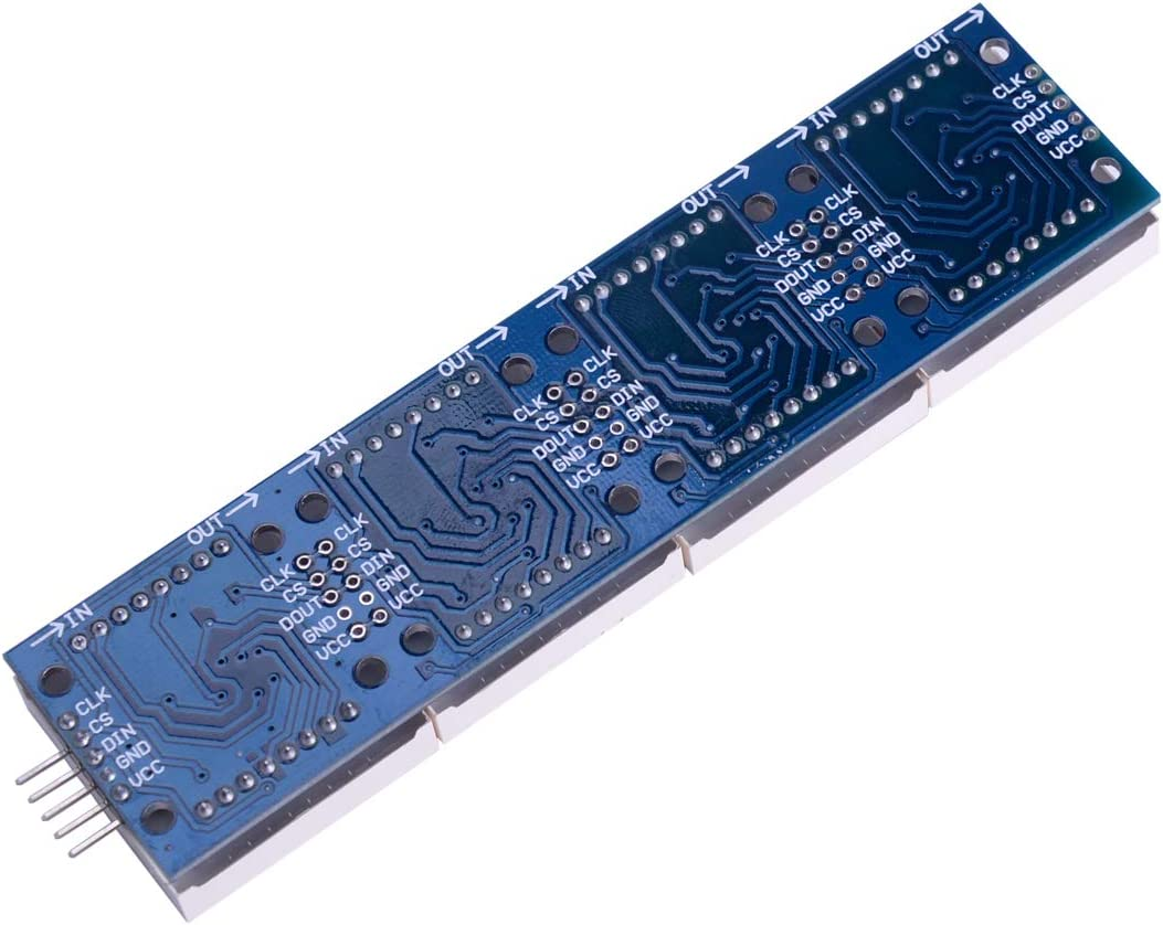 Utini 5pcs MAX7219 Dot Matrix Module for Microcontroller 4 in One Display with 5P Line