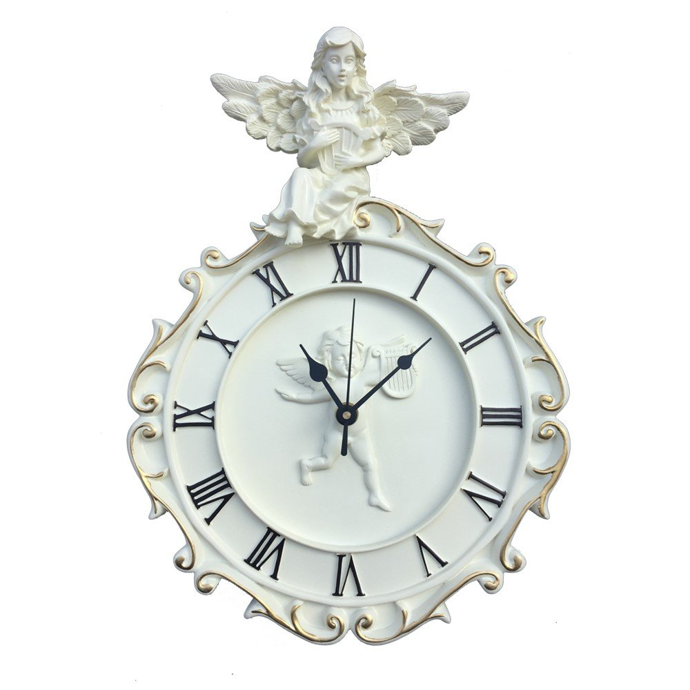komanakomi ヨーロピアン風 天使 の 掛け時計 静か な ウォールクロック (24cm) B072FJNPF7 24cm 24cm