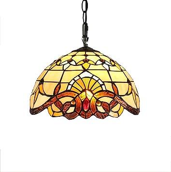 12-Inch Tiffany estilo lustre barroco Creative vitral ...