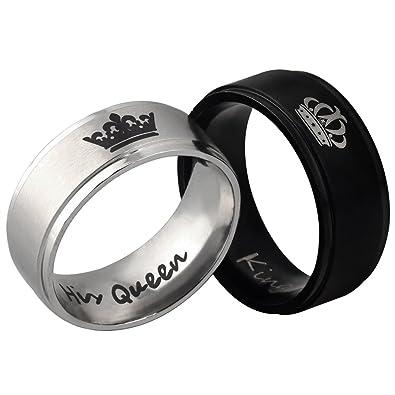 1e5534a91da7a Amazon.com: PHD LTD His or Hers Titanium Crown Her King His Queen ...