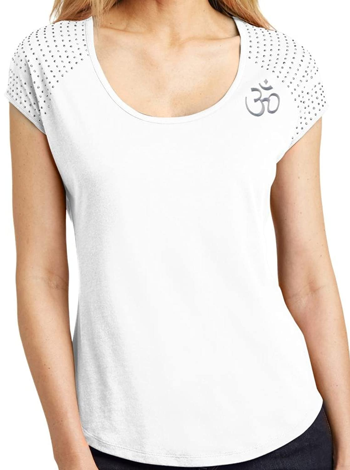 Yoga Clothing For You Ladies Hindu Om Symbol Bling Shirt
