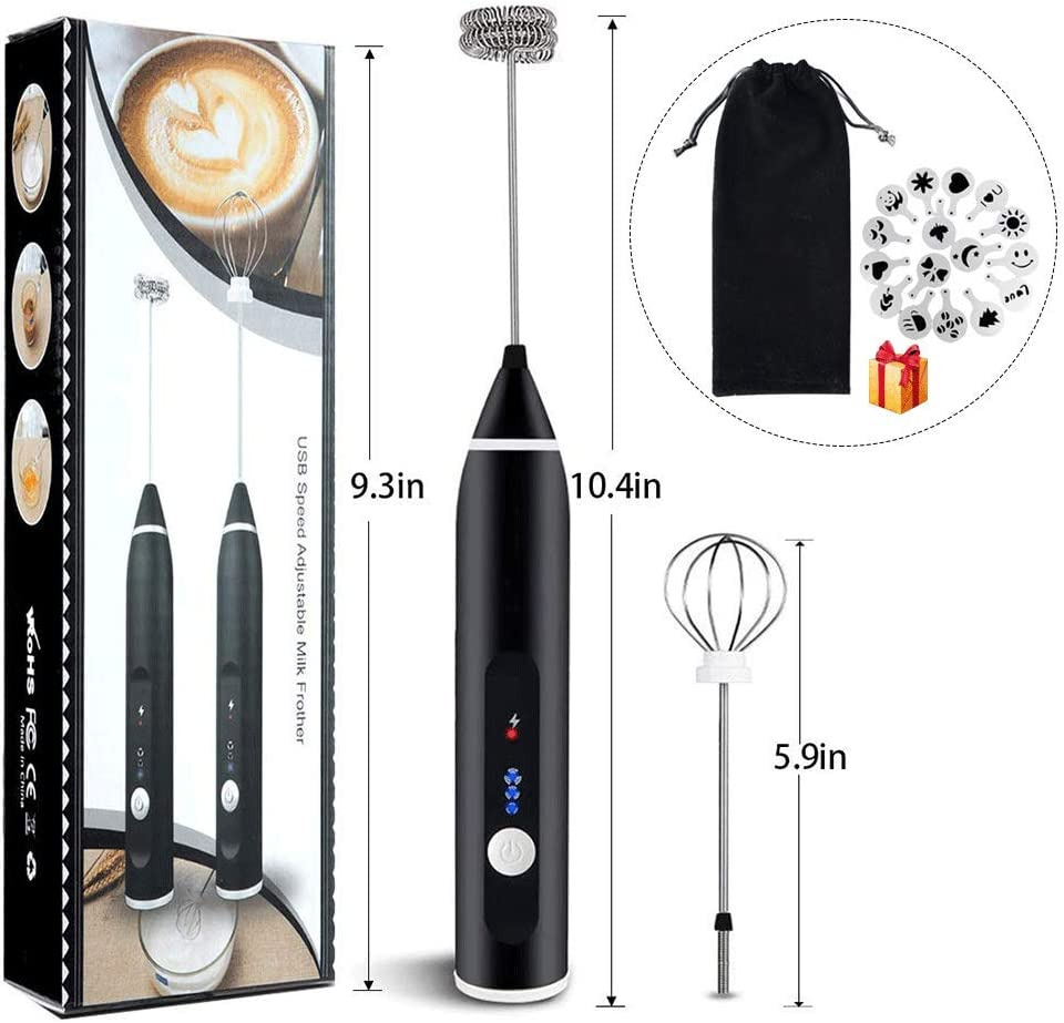 OIYINM77 Powerful Spring Electric Mixer Milk Frother Kitchen Hand Milk Foamer for Coffee Everything Else