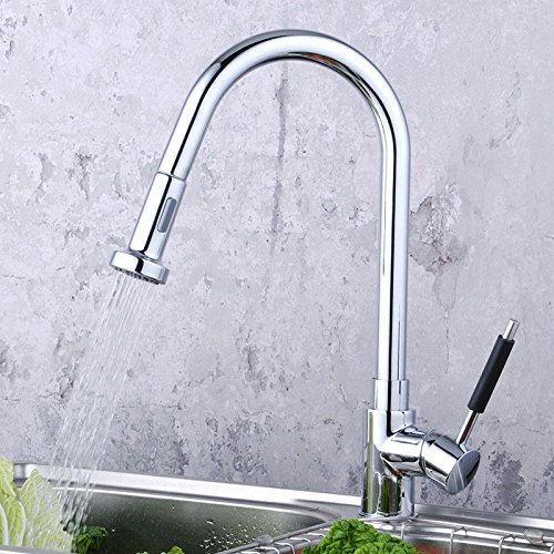 Lalaky Taps Faucet Kitchen Mixer Sink Waterfall Bathroom Mixer Basin Mixer Tap for Kitchen Bathroom and Washroom Hot and Cold Pull Single Hole redation