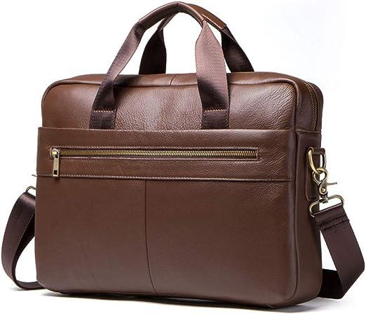 US Men/'s Leather Messenger Bags Briefcase Shoulder Bag Cross body Tote Handbag