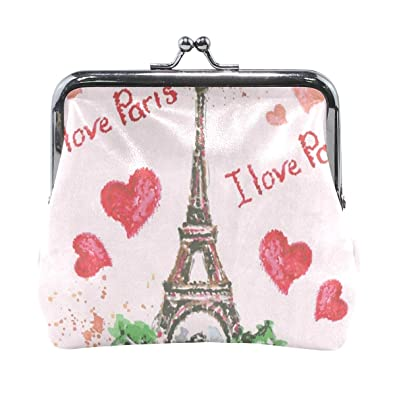 Amazon.com: Monedero Love In Paris Red Heart Eiffel Tower ...