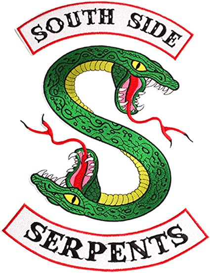 Riverdale Large Southside Serpents Patch Sew or Iron on Patches Cool Biker Back Embroidered Applique Patches for Jacket Shirts Backpacks Clothes