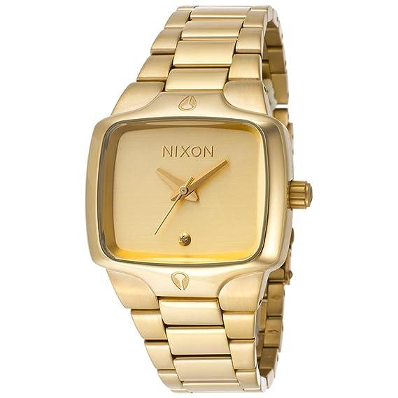 Reloj Nixon mujer correa acero dorado