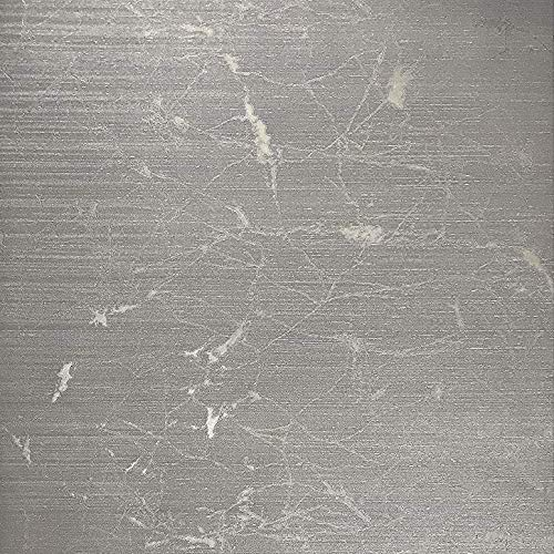 Silver Faux Textured Wallpaper - 76sq.ft roll made in Italy Portofino textured wallcoverings modern abstract embossed Vinyl Wallpaper silver gold metallic faux rustic metal design Vertical Stripes lines plain strippable wall covering
