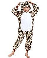 Molly Unisex Bambini Pigiama Fumetto Halloween Costume Cosplay Leopard 115