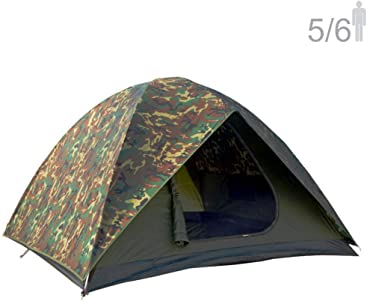 NTK HUNTER GT 5 to 6 Person 9.8 by 9.8 Foot Outdoor Dome Woodland Camo Camping