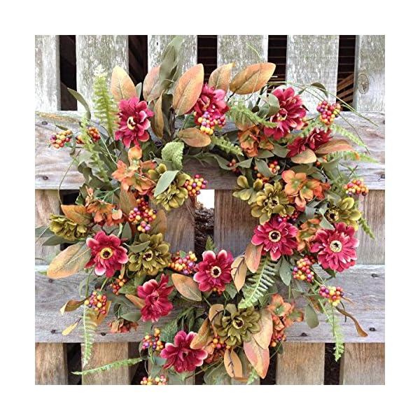 Flora Decor Gerber Daisy Garden Wreath 24″