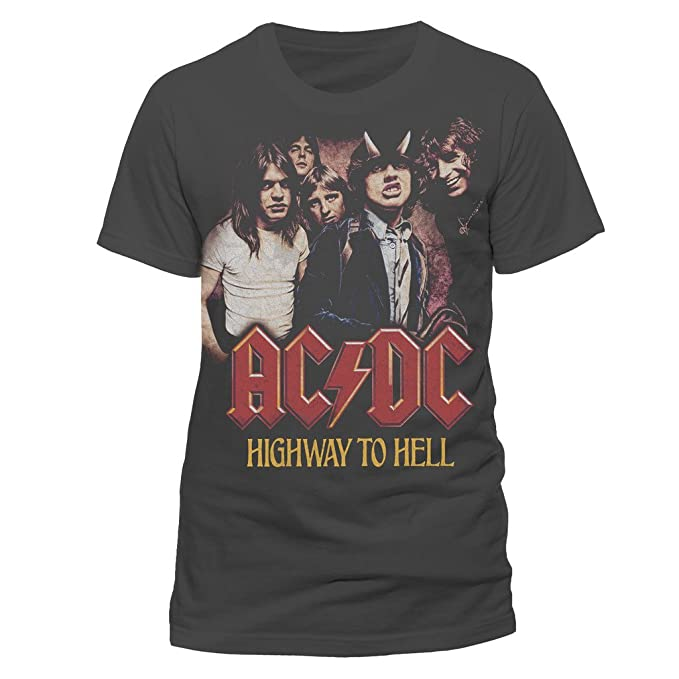 Amplified ACDC-Highway To Hell, Camiseta para Hombre