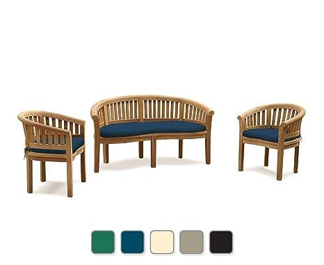 Fantastic Jati Wimbledon Banana Bench Half Moon Garden Furniture Set Cjindustries Chair Design For Home Cjindustriesco