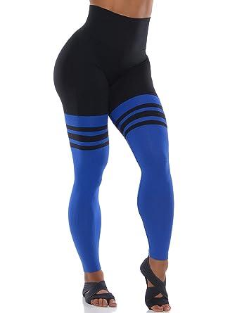 a483112870a5a Bombshell Sportswear High Waist Thigh-High Leggings - Black/Royal at ...