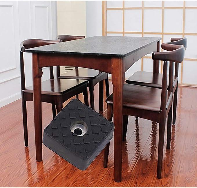 Gommini Quadrati Trasparenti per Sedie Bianco Trasparente Protezione Pavimento per Sedie E Mobili ARTISAN-SH 12 Pezzi di Piedini Morbidi in Gomma per Gambe di Mobili