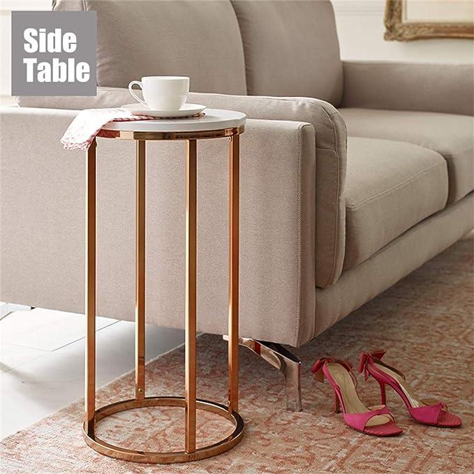 Amazon.com: Mesa auxiliar con patas altas/mesa final de ...