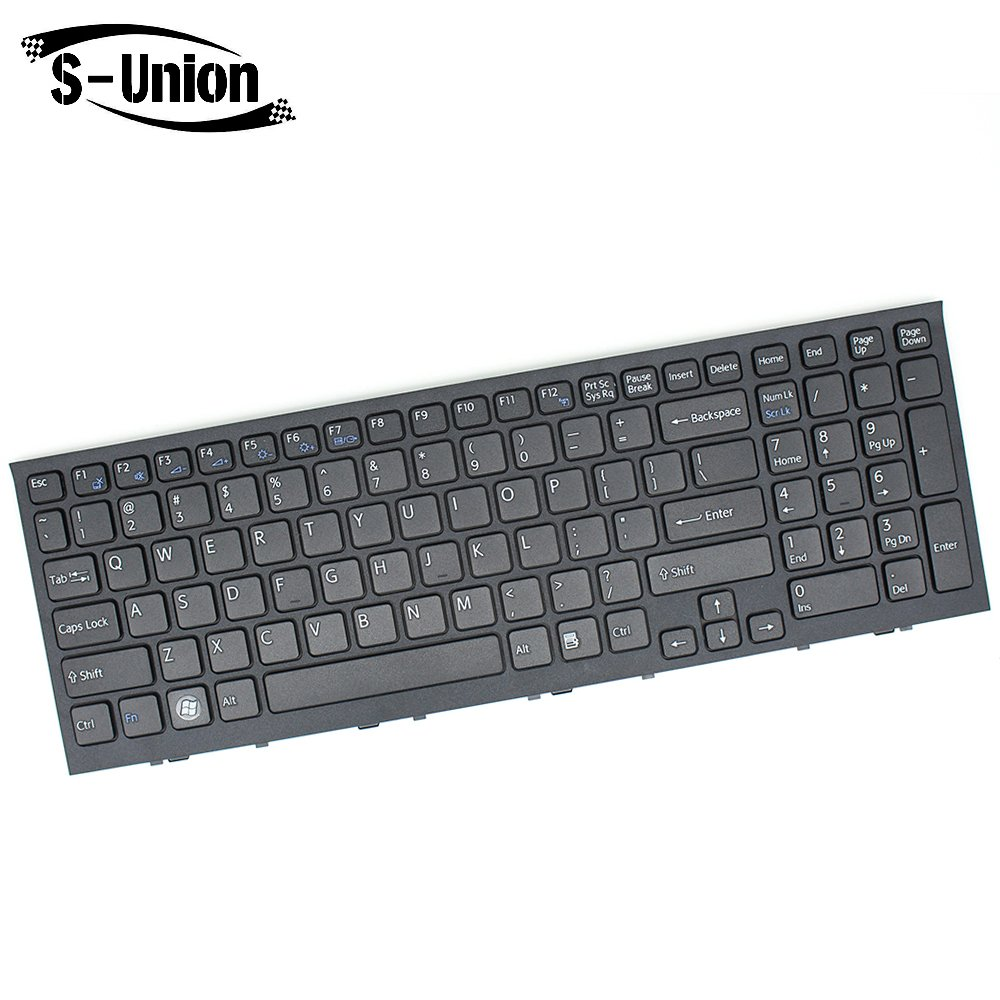 Generic New Black Laptop US Keyboard with Frame for Sony Vaio VPC-EL VPCEL VPC-EL111T VPC-EL13FX VPC-EL15FX/B PCG-71C11L PCG-71C12L Series Replacement Part Number 148968711 V116630A