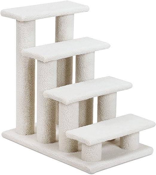 Goplus Escalera para mascotas, color beige, escalera para gatos, escalera para perros, árbol para gatos, árbol para jugar, escalera para gato: Amazon.es: Productos para mascotas
