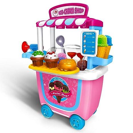 Niños Juguetes Niñas Pretender juguete 2+ 3+ años, GizmoVine 31pcs Simulación Helado de