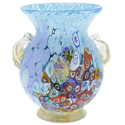 Amazon Glassofvenice Murano Glass Millefiori Urn Vase With Lion