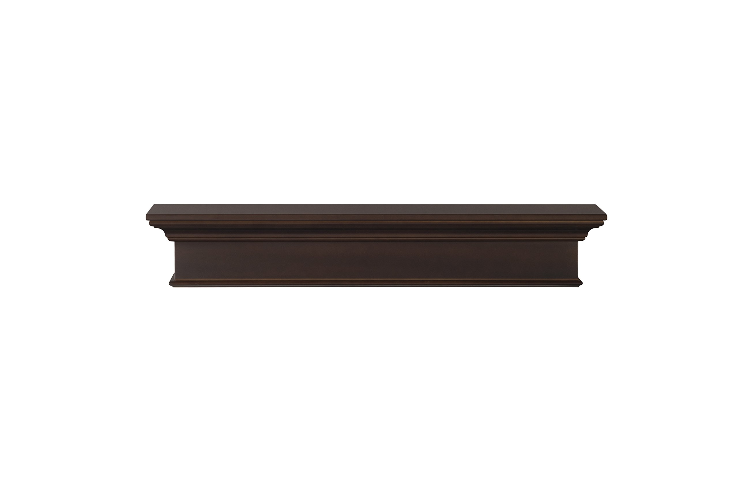 Pearl Mantels Henry 48-Inch Mantel Shelf, Chocolate Brown by Pearl Mantels