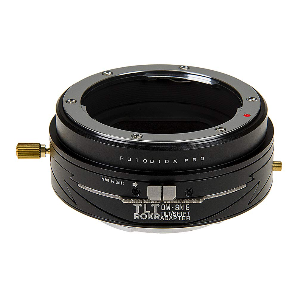 Fotodiox Pro Tlt Rokr - Tilt/Shift Lens Mount Adapter for Olympus Zuiko (OM) 35mm SLR Lenses to Sony Alpha E-Mount Mirrorless Camera Body