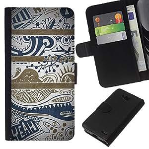 All Phone Most Case / Oferta Especial Cáscara Funda de cuero Monedero Cubierta de proteccion Caso / Wallet Case for LG OPTIMUS L90 // Blue Text Clean Pretty Pattern