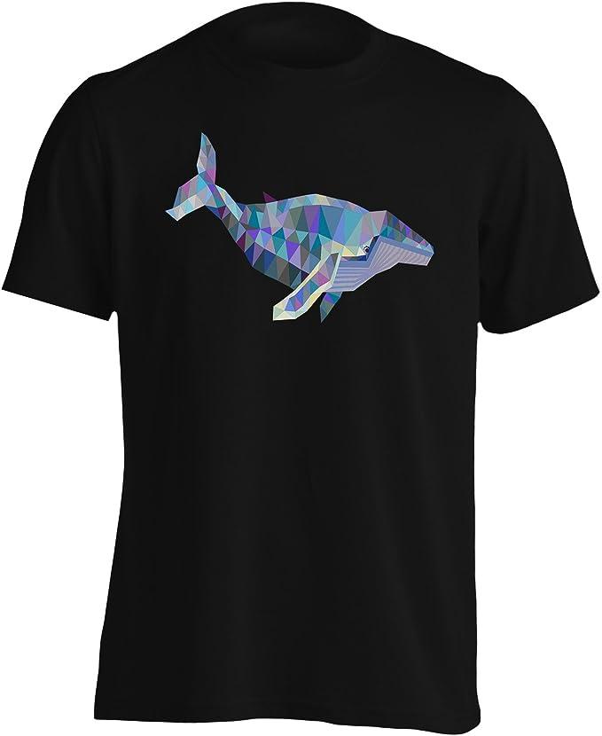 INNOGLEN Triángulo de Las Ballenas Poligonal Origami Camiseta de los Hombres g340m: Amazon.es: Ropa y accesorios