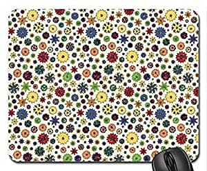 Flower Power II Mouse Pad, Mousepad (Flowers Mouse Pad, Watercolor style) by runtopwell