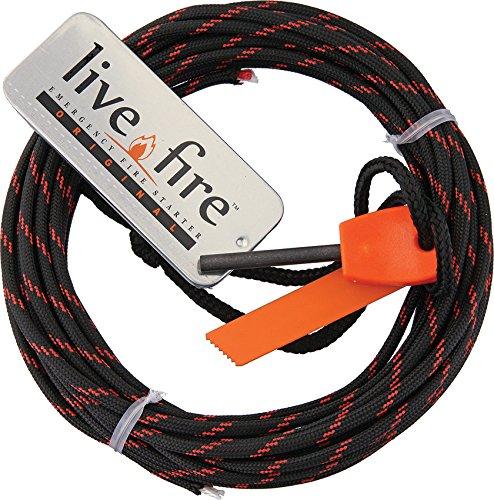 Ring O Fire by Live Fire Gear 着火糸入り550パラコード Live Fire オリジナルファイアスターター フェロセリウム棒+ストライカー B015HJFOXG  Thin Red Line