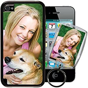 Apple iPhone 5s PixCase? - Picture Frame Case - DIY personalized - Insert photos, change anytime or create custom inserts at PersonalizeItYourself - Shock absorbing TPU edges, clear scratch resistant picture window ++ Bonus Photo Keychain ++