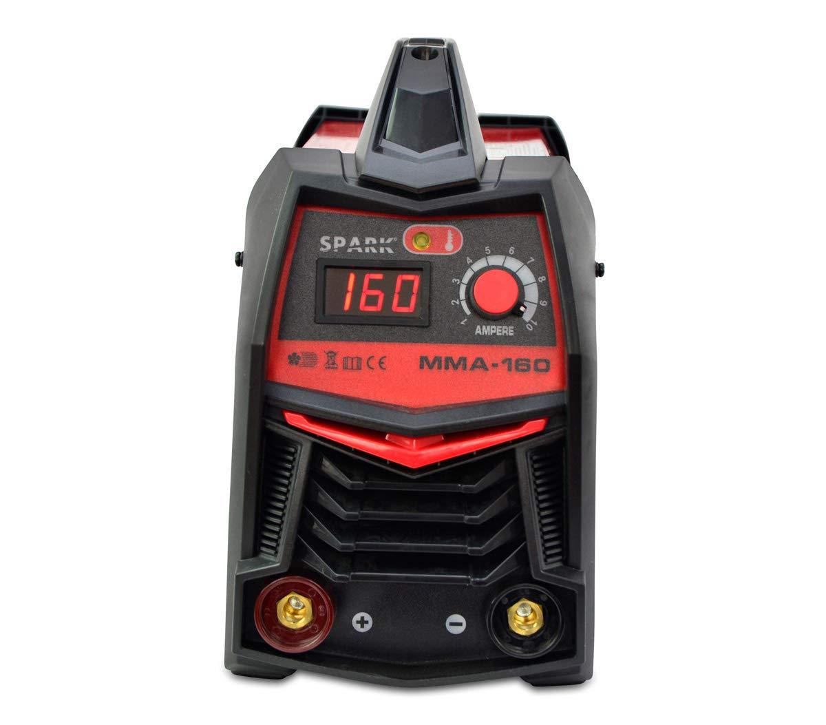Soldador Inverter Soldadora Equipo de Soldadura Electrodo Electrodo hasta 3.25mm Maquina de Soldar (160 A, IGBT, Pantalla LED, incl. accesorios): Amazon.es: ...
