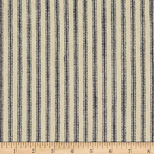 (Waverly Pisa Ticking Stripe Woven Vintage, Fabric by the Yard)