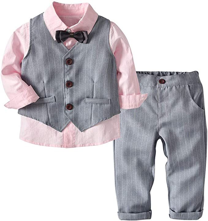 Baby boys formal blue//grey shirt 12-24M 1-2 Y wedding,smart,page boy,prom