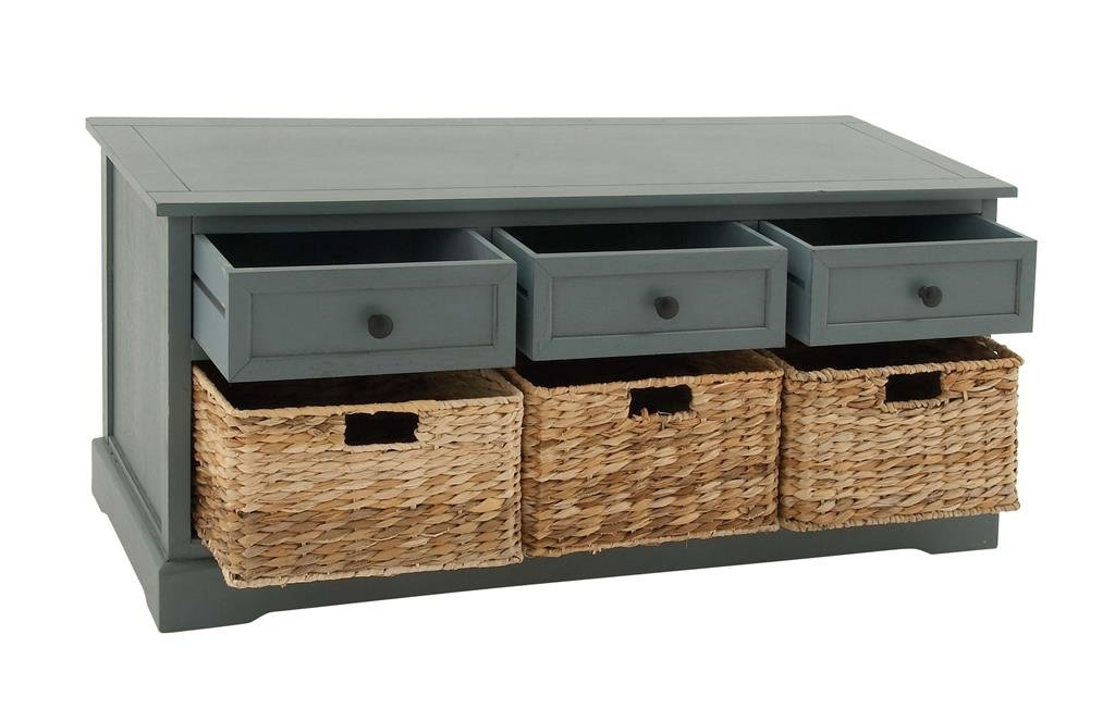 Gentil Amazon.com: Deco 79 Wood Wicker Basket Cabinet, 42 By 20 Inch: Decorative  Tiles: Kitchen U0026 Dining