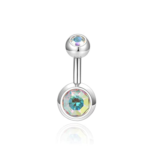 Multicolor Crystal Butterfly Belly Rings Navel Barbell Curved Bar Body Jewelry