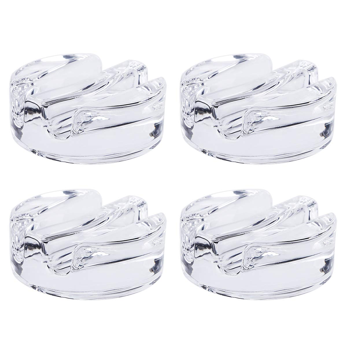 Aozita 4-Pack Glass Fermentation Weights - Fermenting Weights with Grooved Handle - Fits Any Wide Mouth Mason Jar