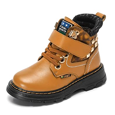 innovative design b97b1 1a485 Zosyns Kinder Schuhe Winter Jungen Stiefel Leder ...