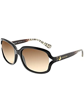 207eccf49a Coach Womens L149 Sunglasses (HC8169) Black Brown Plastic - Non-Polarized -